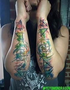 Tatouage 4 éléments : 4 elements and the golden ratio tattoo done my way ~ Nature-et-papiers.com Idées de Décoration