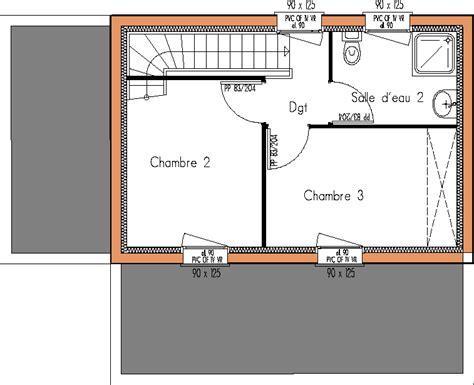 plan maison etage 2 chambres modèles maisons abordables page 1