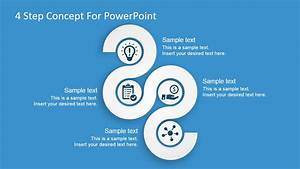 Free 4 Steps Concept Diagram For Powerpoint