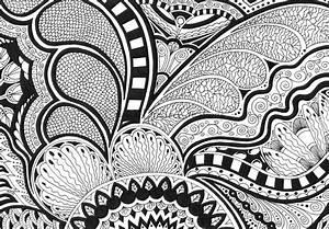 Original Abstract Black & White Drawing