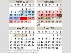 2018 Mercury Retrograde Calendar