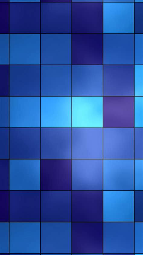 blue bathroom tiles grid iphone  wallpaper hd