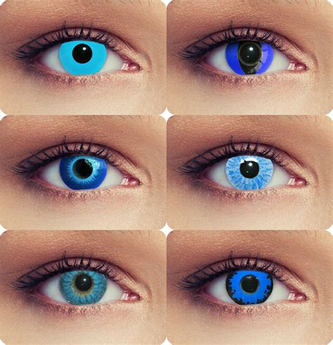 what stores sell colored contacts blue colored costume contacts scary blue eye