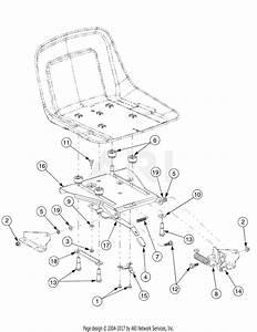 Troy Bilt 17af2acp766 Mustang Rzt 50  2007  Parts Diagram For Seat Adjustment