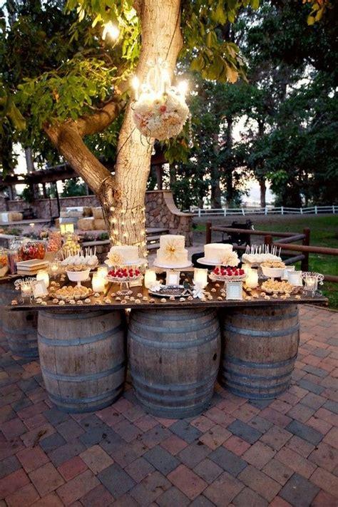 ideas  rustic buffet tables  pinterest