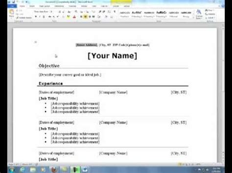 Microsoft Resume Maker by A Resume Template In Microsoft Word