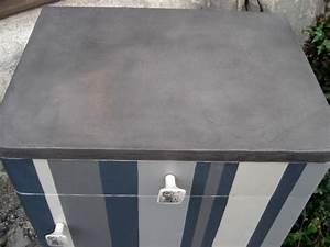 Beton Cire Deco : meuble raye beton cire graphite eleonore deco pinterest ~ Premium-room.com Idées de Décoration