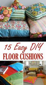 15 easy diy floor cushions pillows craft and sewing With how to make a floor pillow