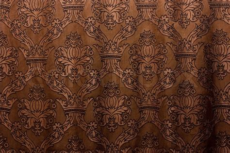 curtains and drapes brown vintage curtain as background stock photo colourbox