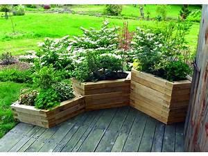 Comment Remplir Une Grande Jardinière : fabriquer une jardiniere en bois black bedroom furniture sets home design ideas ~ Melissatoandfro.com Idées de Décoration