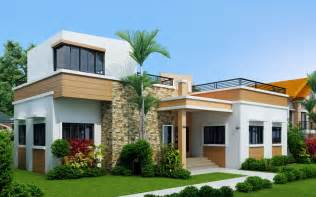 3 bedroom single story home with roof deck home - Single Story House Plans Without Garage
