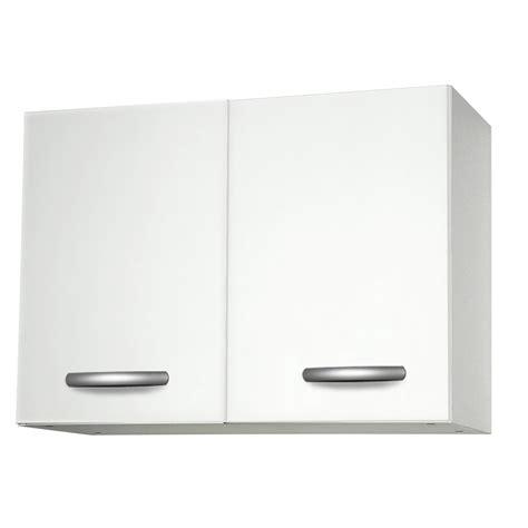 meubles de cuisine blanc meuble de cuisine haut 2 portes blanc h57 x l80 x p35 cm