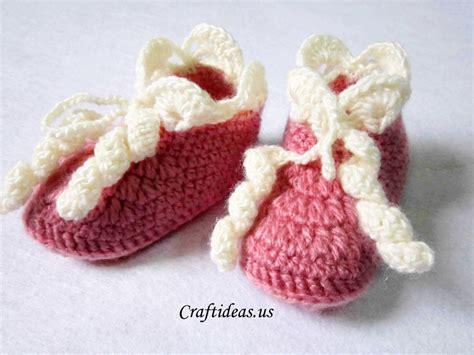 crochet baby booties crochet baby booties craft ideas