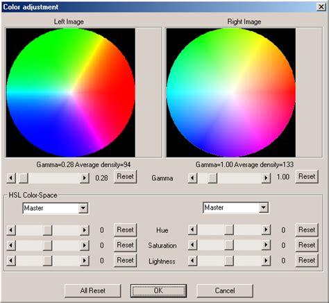 adjust color adjustment