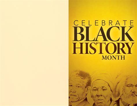 celebrate black history bulletin church bulletins