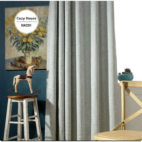 solid modern curtains for living room blackout blinds