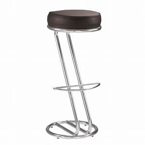 Tabouret De Bar Fixe : lot de 2 tabourets de bar chaise haute de bar zeta noir ~ Dailycaller-alerts.com Idées de Décoration