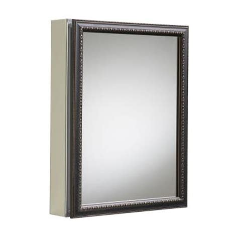 home depot medicine cabinet with mirror kohler 20 in x 26 in h recessed or surface mount