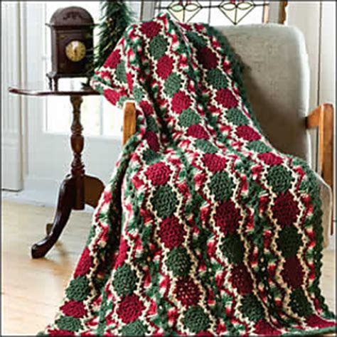 ravelry vintage christmas throw pattern  katherine eng