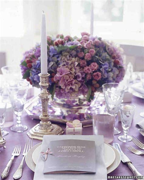purple  blue wedding centerpieces martha stewart weddings