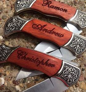 6 personalized knives custom engraved groomsmen gift With wedding party gifts for guys