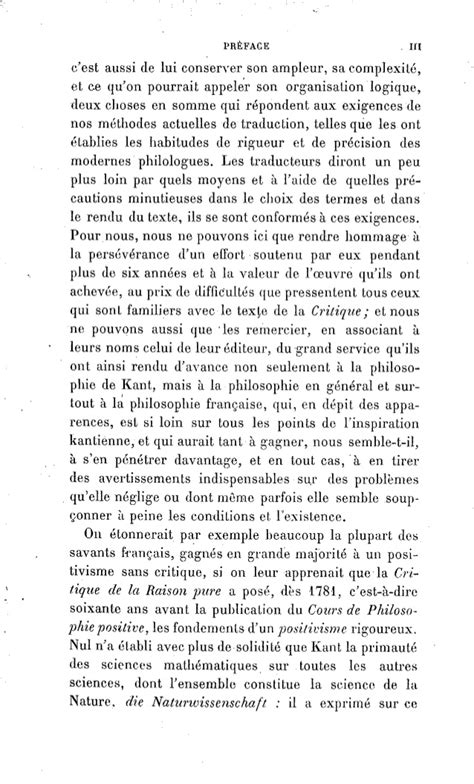 kant critique de la raison