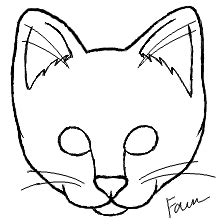 basic  art drawing  template  cake cat