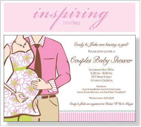 couples baby shower expecting girl invitation polka dot