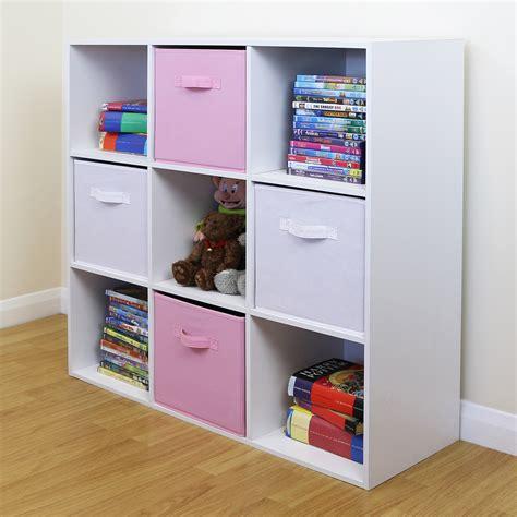 9 Cube Kids Pink White Toygames Storage Unit Girlsboys