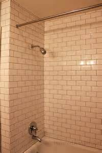 inside corner and subway brick pattern tile tiling