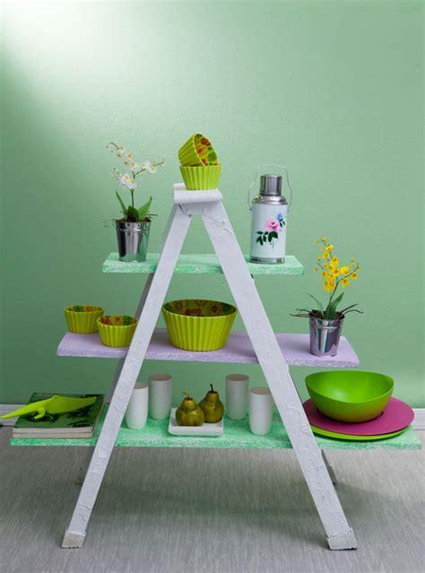 DIY ladder shelf ideas   Easy ways to reuse an old ladder