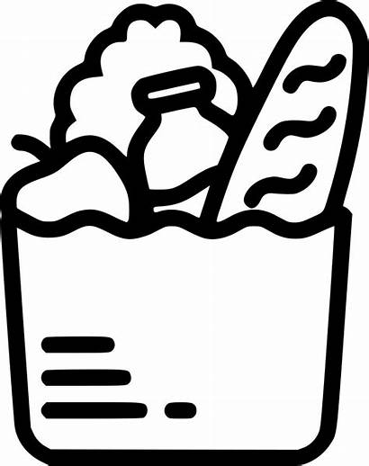 Bag Grocery Icon Clipart Svg Transparent Pinclipart