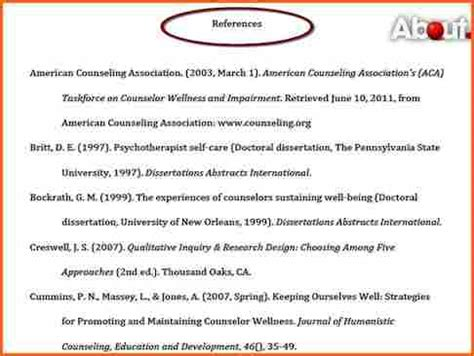 10 what does an apa citation page look like budget