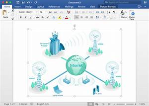 Add A Telecommunication Network Diagram To Ms Word