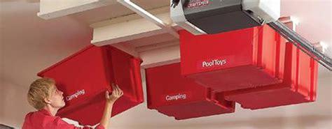 hanging garage storage create a sliding overhead storage system garage