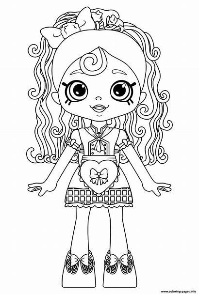 Coloring Shopkins Shoppie Doll Places Happy Spaghetti