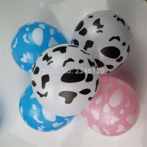 Cowhide Balloons - 30pcs lot print cow lines globos gifts festival birthday