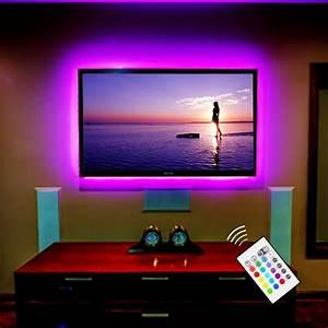 Led Hintergrundbeleuchtung Tv Nachrüsten : buy bason lighting r tv backlight usb powered led strip light home theater ~ Watch28wear.com Haus und Dekorationen