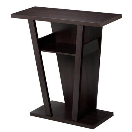 Living Room Side Stand by Yaheetech V Shape Console Table Sofa Side End Stand Rack