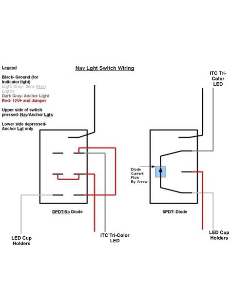 navigation anchor light switch and wiring diagram dpdt