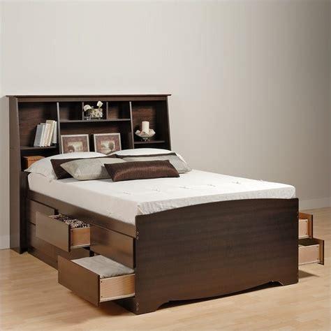 twin bookcase storage bed tall twin bookcase platform storage bed in espresso finish