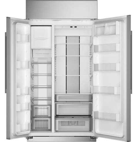 zissnnss monogram  built  counter depth side  side refrigerator  led lighting