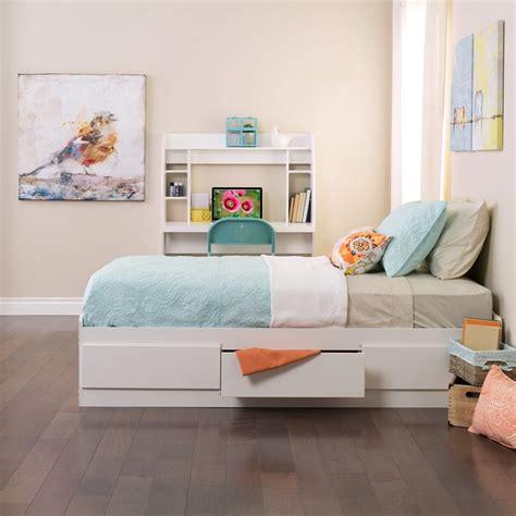 storage bed white shop prepac furniture white platform bed with storage