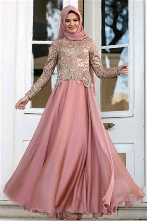 jual abaya gamis maxi dress gaun pesta muslim brokat satin