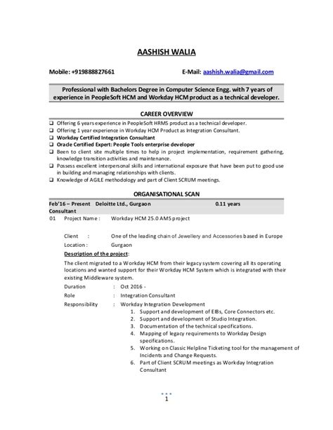 Peoplesoft Hr Functional Analyst Resume by Peoplesoft 9 1 Tam Implementation Resume