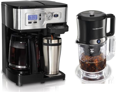 Ideal when you're brewing a cup just for you, and. Hamilton Beach 49983 2Way Single Serve Coffee Brewer & Iced Coffee/Tea Maker Kit - Walmart.com ...