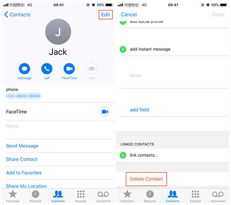 contacts on iphone how to delete contacts on iphone x 8 plus ios 11