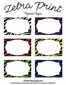 free printable animal print name tags the template can With free zebra label templates