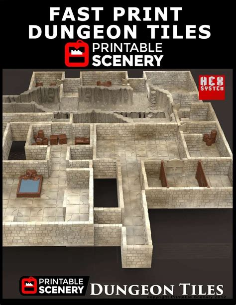fast print dungeon tiles www printablescenery com