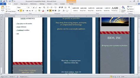 How To Set Up And Create A Tri Fold How To Make A Brochure In Microsoft Word